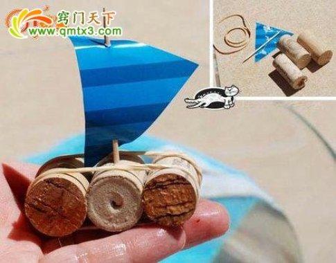 Ideas para reciclar corchos barco