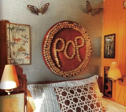 Ideas para reciclar corchos mural