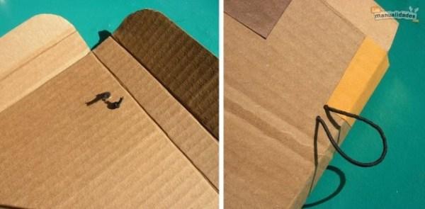 Cómo hacer una carpeta de cartón reciclado procedimiento 3