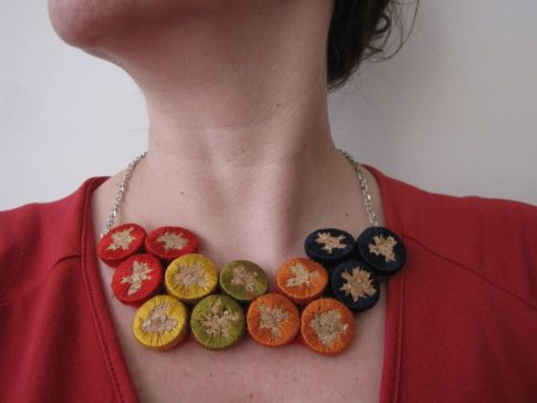 Ideas para reciclar corchos collar