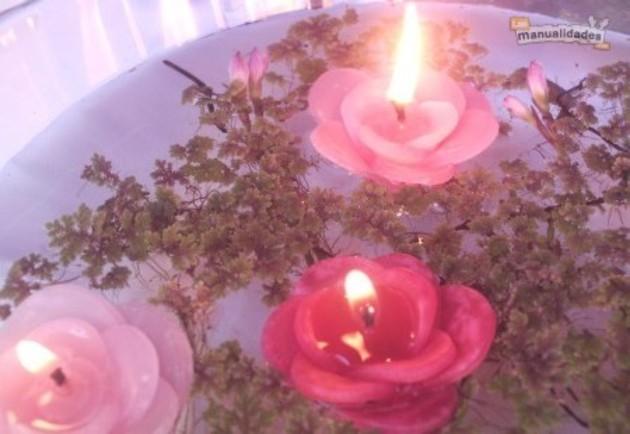 Velas caseras flores