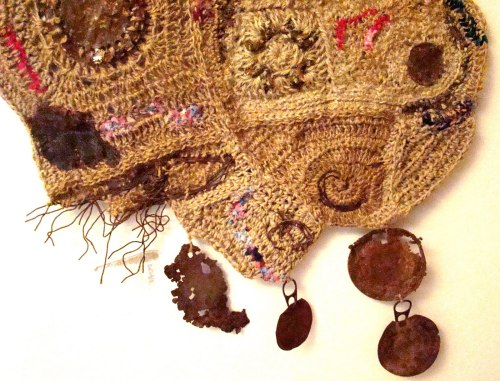 Original tejido en crochet con rafia