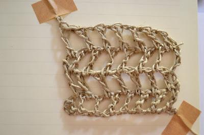 Tejido a crochet con rafia