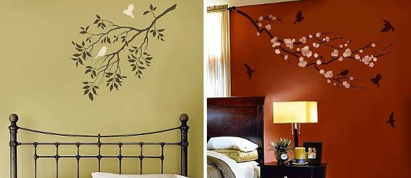 Diseños de aves para decorar paredes