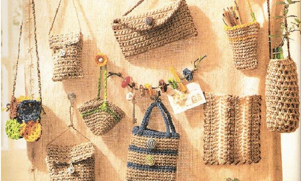 Crochet con rafia