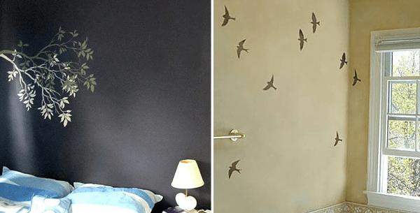 Pajaros para decorar las paredes