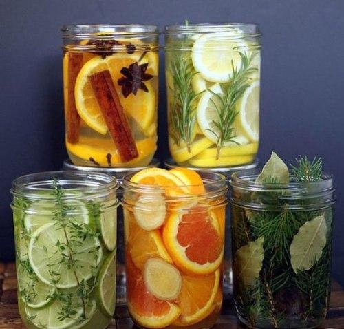 Aromaterapia artesanal frascos con hierbas y especias