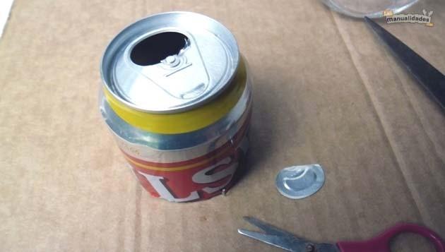 Lamparillas con frascos reciclados montaje