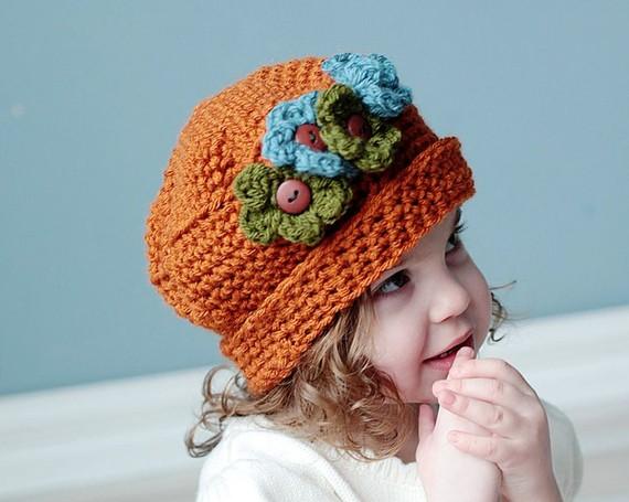 gorros de crochet para bebés 4