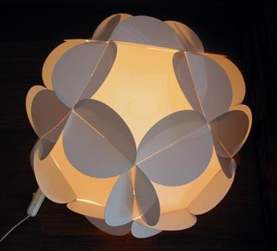 Cómo hacer lámparas de papel modelo encastrado