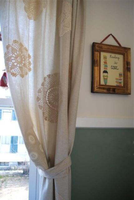 Ideas para decorar con crochet cortinas con ganchillo