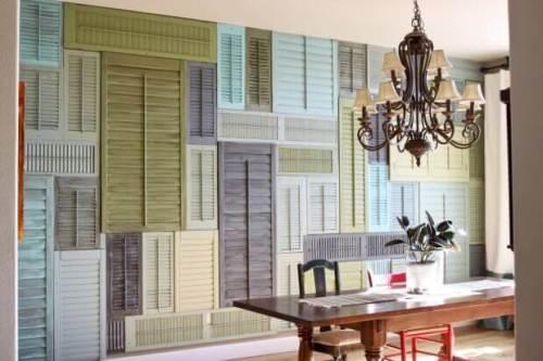 Revestimiento para pared con reciclaje de ventanas