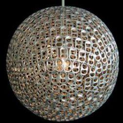 Lámpara de anillas de latas