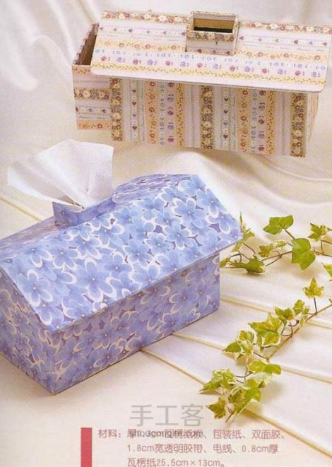 Ideas para reciclar cartón, servilleteros o cajas para guardar pañuelos