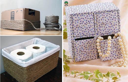 Ideas para reciclar cajas