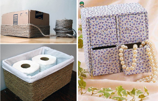 Ideas para hacer organizadores de carton reciclado