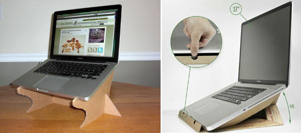 Soporte portatil carton reciclado