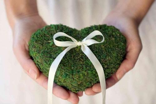Corazón de musgo para san valentín