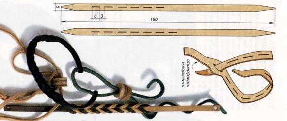 técnicas para hacer pulseras de cuero entramadas 5
