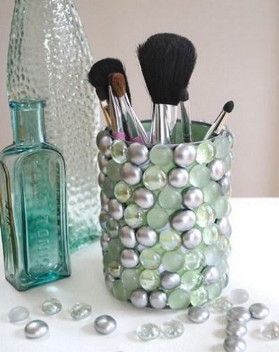 Ideas para reciclar latas, idea manualidades con latas y piedras