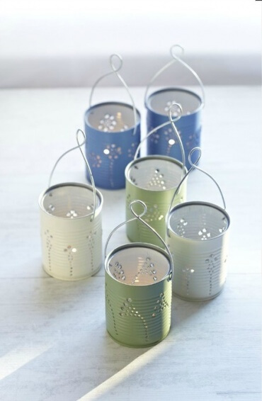 como-hacer-candelabros-con-latas