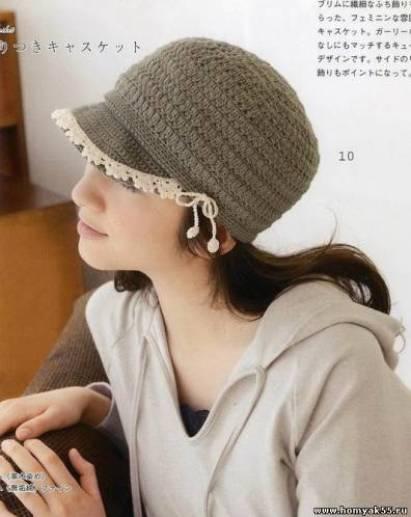 Sombrero de verano tejido con hilo