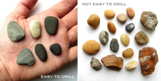Piedras fáciles de agujerear y piedras difíciles de agujerear