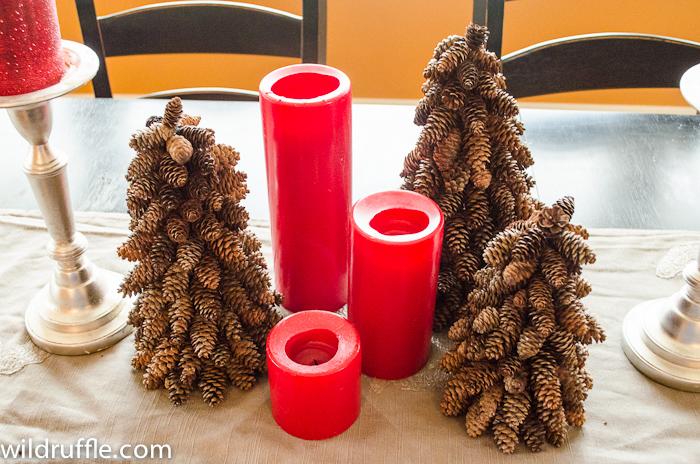 Decorar con piñas ideas para la mesa festiva