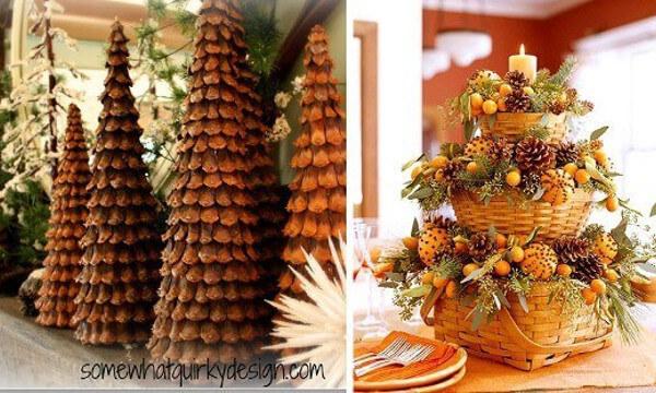 Decorar con pi as ideas de adornos para una navidad - Decorar pinas naturales ...