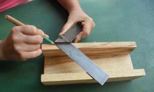 Herramienta casera para hacer marcos de madera