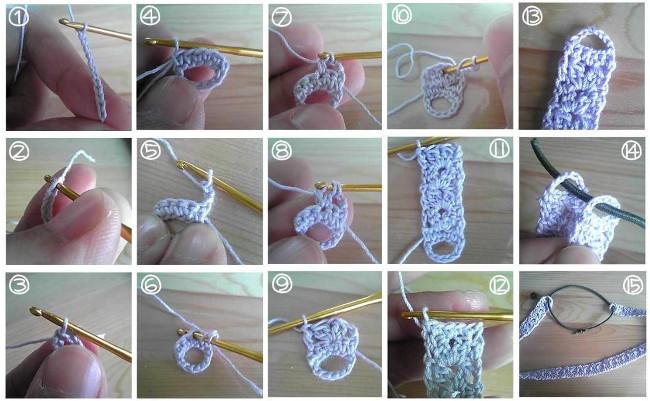Paso a paso diadema de crochet japonesa