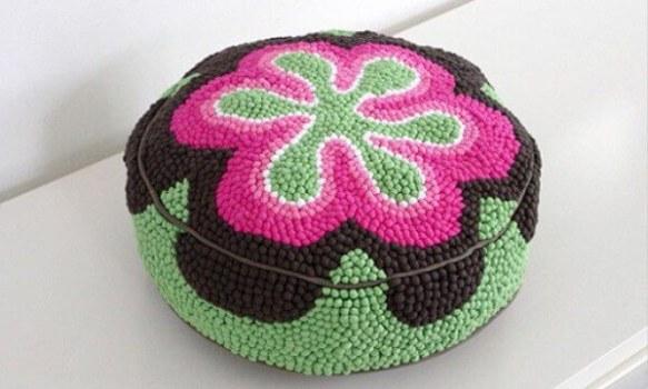 Tecnica tapiz para tela reciclada