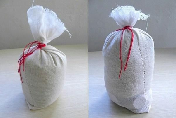 Hacer una bolsa de tela y rellenarla
