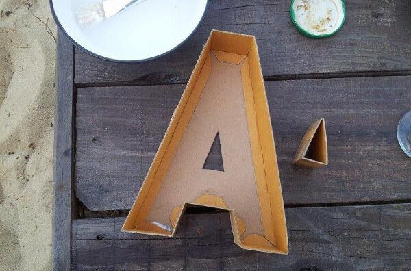 Montar la letra para el molde