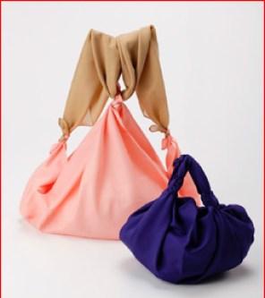 Bolsos furoshiki modelo mochila y bolso simple