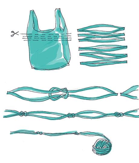 Ideas para reciclar bolsas cortar bolsas para reciclaje