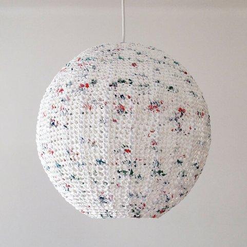 Ideas para reciclar bolsas lámpara