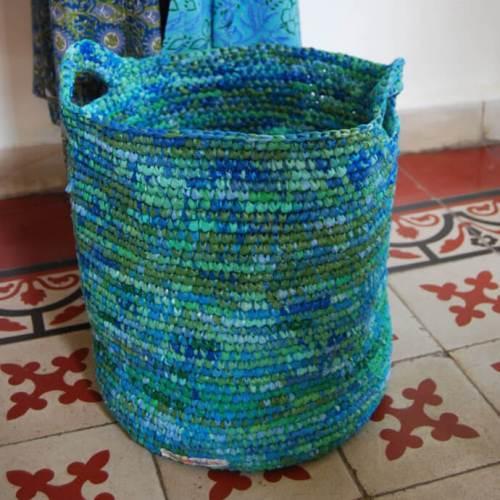 Ideas para reciclar bolsas cesto para la ropa