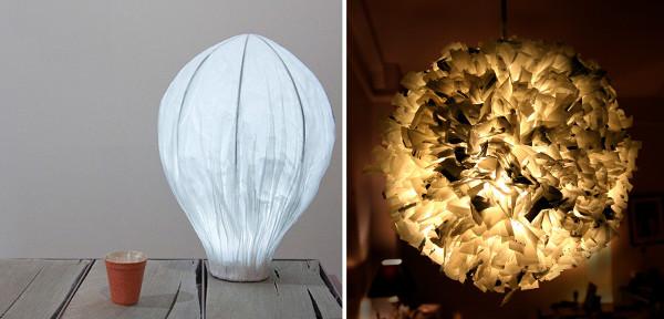 Ideas para reciclar bolsas y hacer lamparas