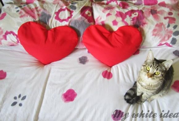 Bolsas de semillas calientes con forma de corazón