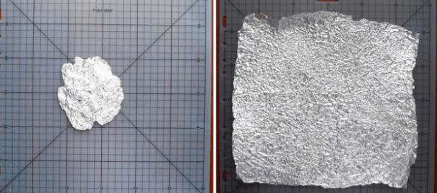 Manualidades con papel de aluminio 4