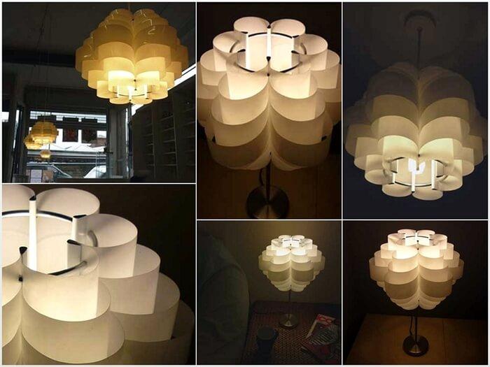 lamparas hechas con botellas plasticas