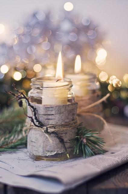 velas decoracion natural