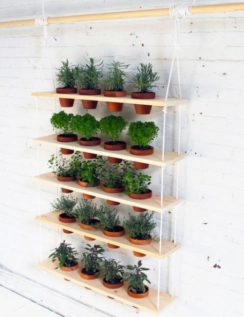 Cómo hacer un jardín vertical estanterías con macetas