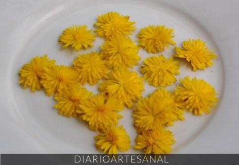 Flores de dientes de león receta de cocina