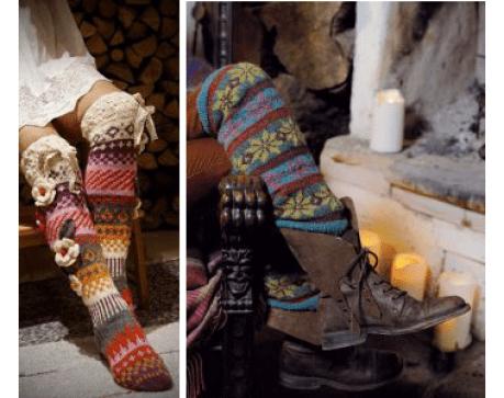 Patrones de calcetines y medias modelos de medias más arriba de la rodilla