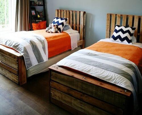 muebles con palets idea para hacer camas de una plaza