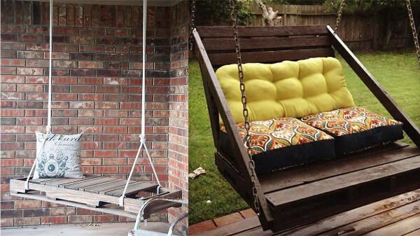 muebles con palets diseos de hamacas de jardn hechas con palets reciclados