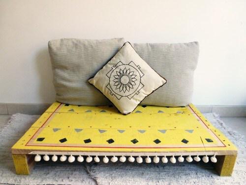 Muebles con palets tarima para meditar