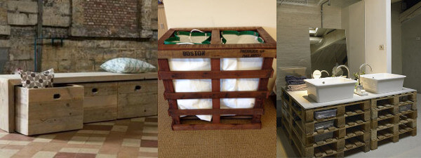 muebles tiles para la casa hechos con palets - Muebles Palets